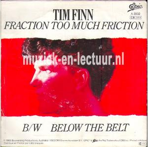 Fraction too much friction - Below the belt