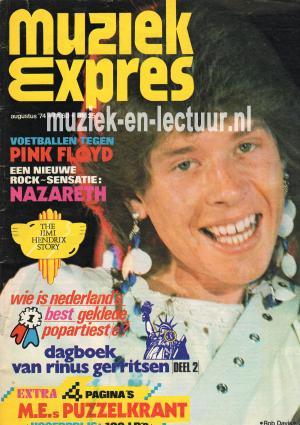 Muziek Expres 1974, augustus