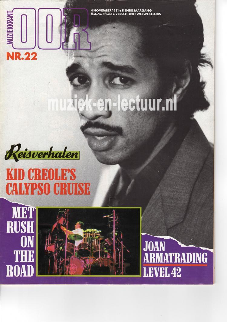 Muziekkrant Oor 1981 nr. 22