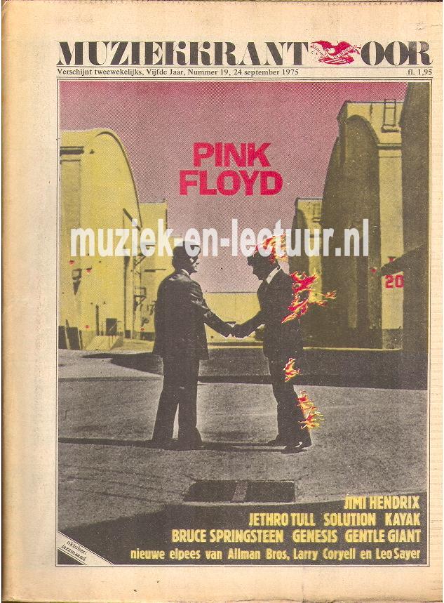 Muziekkrant Oor 1975 nr. 19