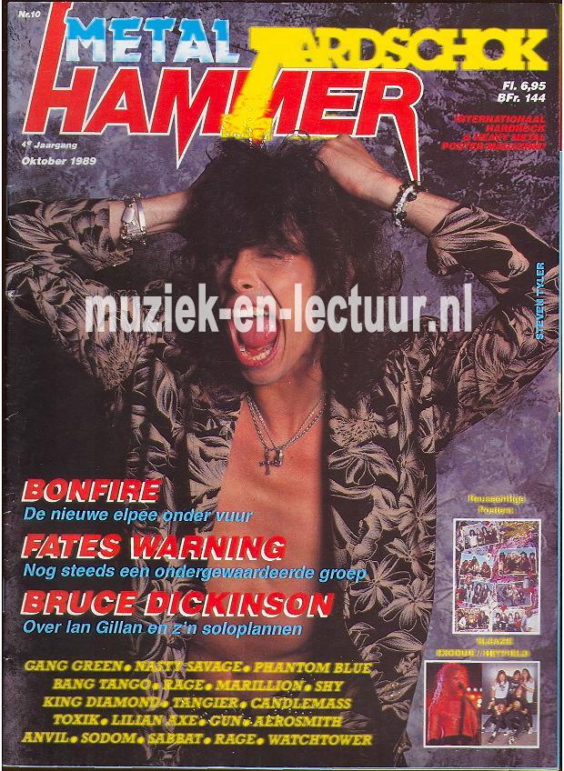 Metal Hammer & Aardschok 1989 nr. 10
